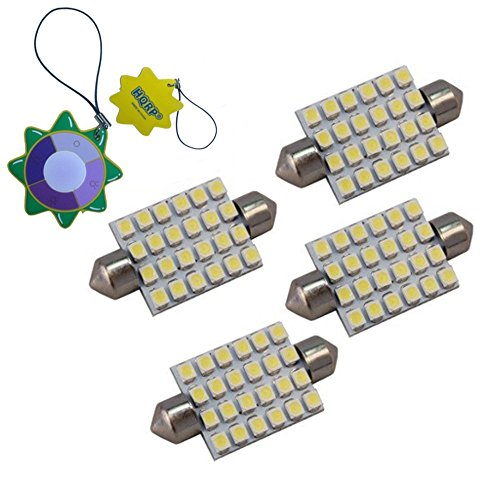 HQRP Paquet de 4 ampoules LED 42mm Feston 24 LEDs SMD pour # DE3175, DE3022, DE3021, 560, 569, 578, 3175, 6413, 6429, 4410 Remplacement