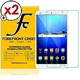 Forefront Cases [HD KLARHEIT] Gehärtetes Glas Bildschirm Schutz Protektor Folie für Huawei MediaPad M3 8.4 [Ultra DÜNN nur 0.3mm] - 2ER Pack