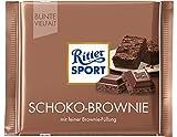 RITTER SPORT Schoko-Brownie (100 g), Vollmilchschokolade mit Brownie-Füllung, köstliche Schokosplitter in dunkler Kakaocreme, Tafelschokolade