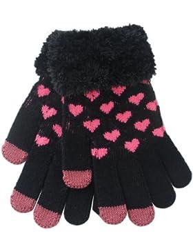 Invierno diastar NSSTAR globalpowder corazón estilo táctil Smart mensajes hobbygift punto esponjoso guantes termoconductor...