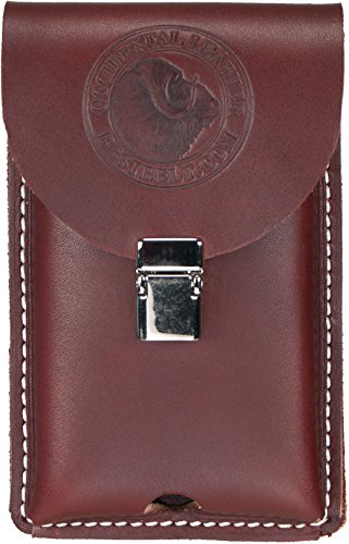 Occidental Leather 5326 Occidental handgefertigt Wechselrahmen Leder Holster passt die meisten Smartphones inkl. iPhone 5, 6, 7, Samsung 6, Regular (Heavy-duty Leder-holster)