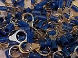 blue 10.5mm ring terminal crimp connector (for 10mm bolt / screw) 25 50 100 pack (100)