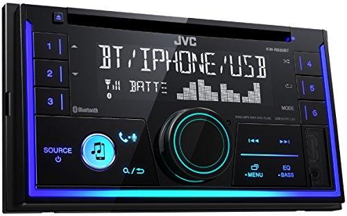 JVC KW-R930BT Doppel-DIN CD-Receiver mit Bluetooth-Freisprechfunktion und Audiostreaming - Auto-cd-player-2 Din