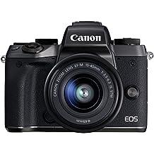 Canon EOS M5 Fotocamera Digitale Mirrorless con Obiettivo EF-M 15-45 mm e Adattatore EF-EOS M, Nero