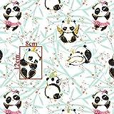 100x160cm 100% Baumwolle Panda Eule Gold Glitzer