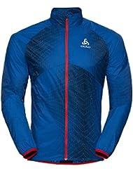Odlo Jacket omnius unidad Chaqueta, primavera/verano, hombre, color energy blue - AOP SS18, tamaño xx-large