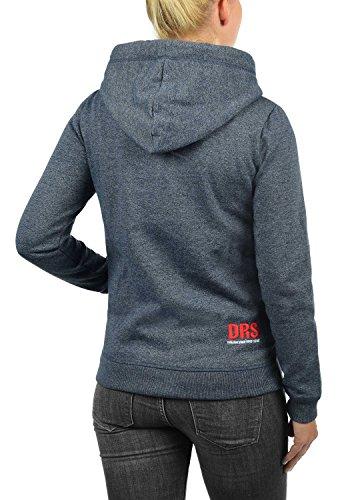 DESIRES Bennja Damen Kapuzenpullover Hoodie Sweatshirt mit Kapuze aus hochwertiger Baumwollmischung Meliert, Größe:M, Farbe:Insignia Blue Melange (8991) - 3