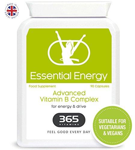 Vitamin B Complex High Strength| Premium B Vitamins with Green Tea Extract | Suitable for Vegans | 60 Vitamin B Complex Capsule