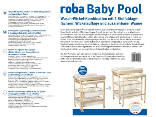 preisvergleich roba bade wickelkombination 39 baby pool. Black Bedroom Furniture Sets. Home Design Ideas