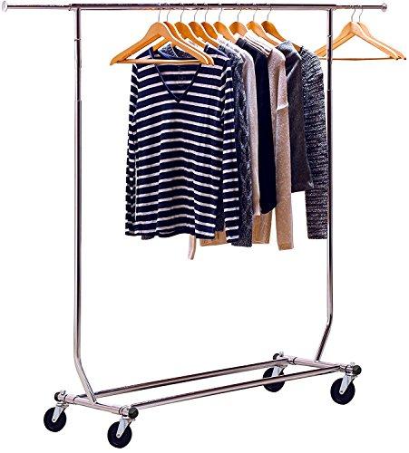 Commercial Garment Rack (DecoBros Supreme Commercial Grade Kleidung Garment Rack, chrom)