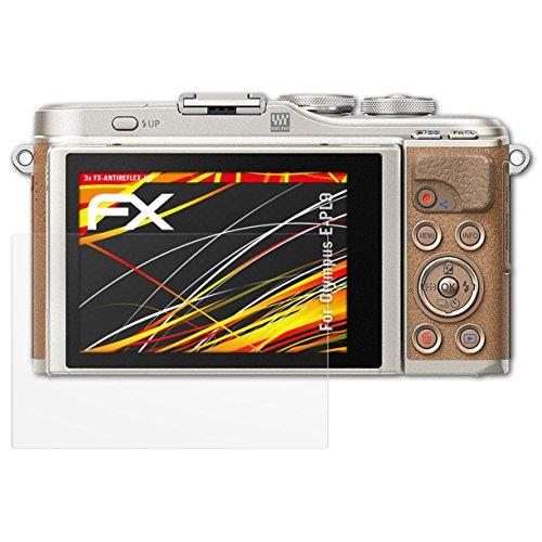 atFoliX Schutzfolie kompatibel mit Olympus E-PL9 Displayschutzfolie, HD-Entspiegelung FX Folie (3X) Olympus Mini Digital