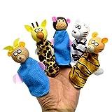 HUPLUE Holz Finger Puppets Weichen Samt Puppen Props Spielzeug Reinigungstuch Plüsch Puppe Baby Educational Hand Cartoon Tier Toys 2Set/8 Style 5