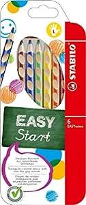 STABILO EASYcolors - Pochette de 6 Crayons de Couleur Ergonomiques - Gaucher