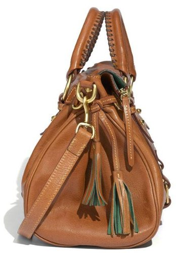 Dooney Bourke & Florentine Vaccheta Satchel Beige (Natural)