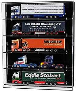 Acrylic Wall Display Case for 1:50 Scale Model Trucks - 5 Shelves