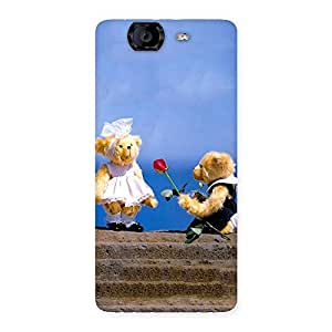 Impressive Proposal Teddy Multicolor Back Case Cover for Canvas Knight A350