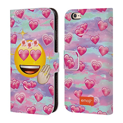 Offizielle Emoji Verliebt Smileys Brieftasche Handyhülle aus Leder für Apple iPhone 5 / 5s / SE Verliebt