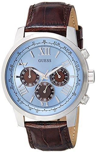 Guess Man Horizon W0380G6 Unisex Analogue Watch with Multicolour Dial Analogue Display - W0380G6_Silver Tone
