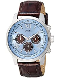 Guess W0380G6 - Reloj de pulsera para hombre, color blanco / plata