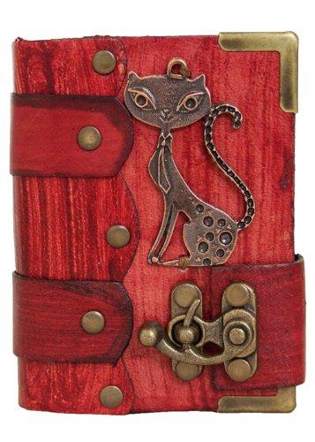 felice-pendente-del-gatto-rosso-annata-diario-in-pelle-fatto-a-mano-leather-taccuino-sketchbook-note