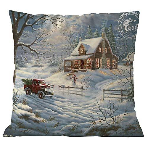 (TEBAISE Festival Kissenhülle Kissenbezug 45cmx45cm Dekokissen Fotodruck - Weihnachtsmann-Motiv Karneval Fasching Fasnacht Zierkissenschutzbezüge)