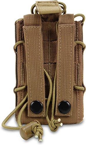 Funkgerätetasche mit Molle Befestigungssystem Coyote
