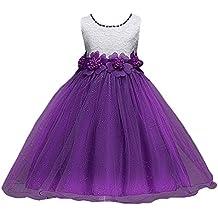 WanYang Las Niñas De Verano Sin Mangas Niños Vestido De Gasa Princesa Vestido Arco Vestido Niña