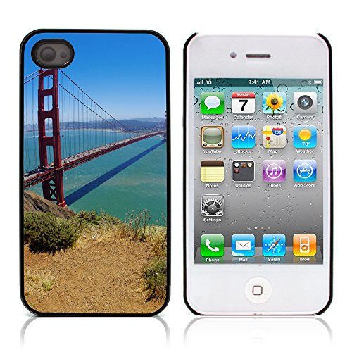 Graphic4You San Francisco Golden Bridge Postkarte Ansichtskarte Design Harte Hülle Case Tasche Schutzhülle für Apple iPhone 4 und 4S Design #2