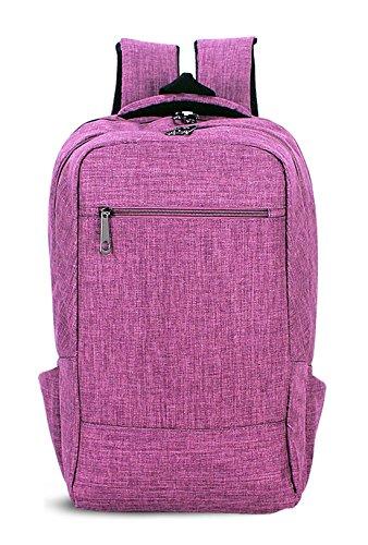 Keshi Leinwand neuer Stil Schulrucksäcke/Rucksack Damen/Mädchen Vintage Schule Rucksäcke mit Moderner Streifen für Teens Jungen Studenten Lila