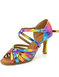 HXYOO XYOO Zapatillas de baile interior para mujer Zapatos latinos de la salsa WK035