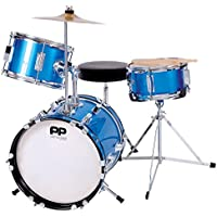Performance Percussion PP101BL PP Drums Kinder Schlagzeug-Set (3 Stücke) blau-metallic