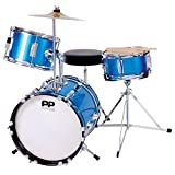 Performance Percussion PP101BL PP Drums Kinder Schlagzeug-Set blau-metallic