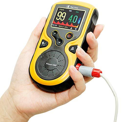 ZDHF Pulsoximeter Palm Finger Blutsauerstoffsättigungsmonitor SpO2- und Schlafmonitor zur Messung des täglichen Perfusionsindex und der Herzfrequenz für den Haushalt,lithiumbatteryversion Palm Converter