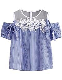 Damark(TM) Ropa Camisetas Mujer, Camisas Mujer Verano Elegantes Encaje Tallas Grandes Camisetas