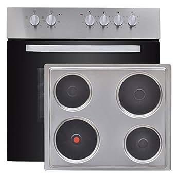Four encastrable et plaque de cuisson en acier inoxydable