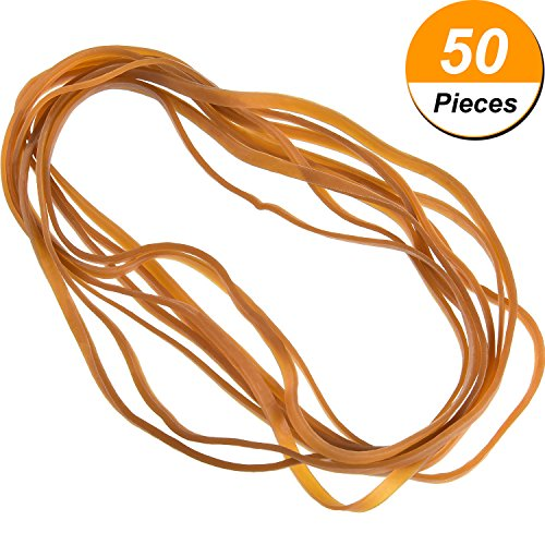 50Stück Große Gummi Bands Trash können Band-Set Elastic Bands für Büro, Trash kann, Datei...