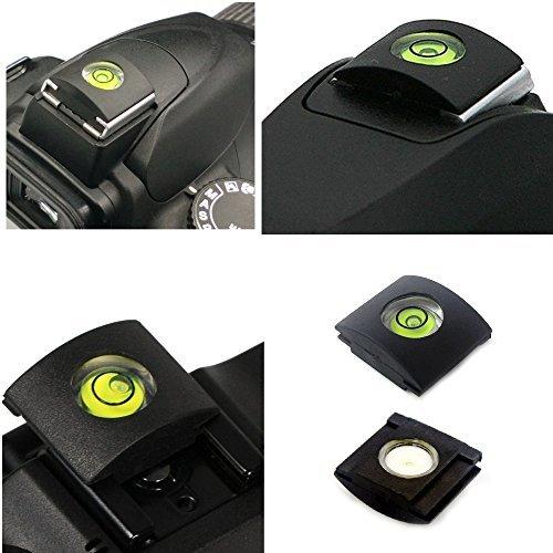 FOTYRIG Camera Flashlight Hot Shoe Bubble Level for Canon Nikon Panasonic Fujifilm Olympus Pentax Sigma DSLR SLR EVIL Camera -Pack of 4 Hot Shoe Level PC1016