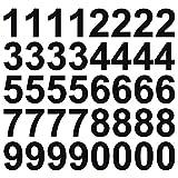 kleb-Drauf® | 40 Zahlen, Höhe je 10 cm | Schwarz - matt | Wandtattoo Wandaufkleber Wandsticker Aufkleber Sticker | Wohnzimmer Schlafzimmer Kinderzimmer Küche Bad | Deko Wände Glas Fenster Tür Fliese