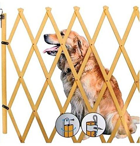 Hundeabsperrgitter Hundegitter Hundeabsperrung Treppenschutzgitter Türgitter Schutzgitter Barrieren Holz 85 x 108 cm - 3