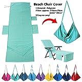 Laxllent nuoto spiaggia asciugamano in microfibra sdraio asciugamani di lettino Mate rapida asciugatura per campeggio, Holiday Garden lounge con tasche, Green