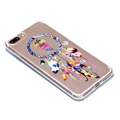 iphone 7 Plus Hülle,iphone 7 Plus Case,iphone 7 Plus Silikon Hülle [Kratzfeste, Scratch-Resistant], Cozy Hut iphone 7 Plus Hülle TPU Case Schutzhülle Silikon Crystal Kirstall Clear Case Durchsichtig,  Farbe Campanula