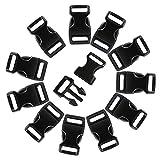 LIHAO 120er 3/8' Klickverschluss Klippverschluss(Steckschließer) Steckschnallen Kunststoff Release Buckles Rucksack Ersatzteile Guertel