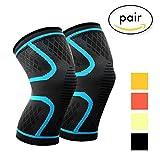 Protezione per ginocchio Vikaster Brace Support, per distorsioni laterali e mediali del legamento ACL,recupero di artrite e lesioni, esercizi di fitness,corsa, alpinismo, allenamento di forza (1paio)