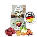 AniForte Natürliches Hunde-Futter Trockenfutter Country-Beef 7kg, Saftiges Feines Rind-Fleisch, 100% Natur Allergiker, Getreide-Frei, Glutenfrei, mit Kartoffeln, Ohne Chemie und künstliche Vitamine
