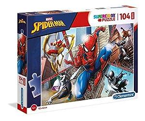 Clementoni Supercolor Puzzle-Spider man-104Piezas Maxi, 23734