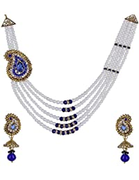 Valentine Gifts : YouBella Jewellery Fashion Party Wear Gold Plated Necklace Jewellery Set With Earrings For Girls...