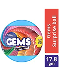 Cadbury Gems Surprise Chocolate Ball, 17.8 gm Pack with Free Toy