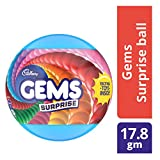 #7: Cadbury Gems Surprise Chocolate Ball, 17.8 gm Pack with Free Toy
