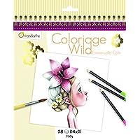 Avenue Mandarine Coloriage Wild – Cuaderno para Colorear