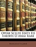 Image de Opere Scelte Edite Ed Inedite O Assai Rare